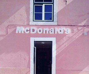 pink, McDonalds, and pastel image