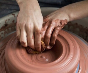pottery, art, and hands image