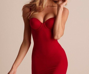dress, red, and candice swanepoel image