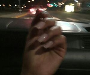 nails, car, and dark image