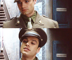 sebastian stan, captain america, and bucky barnes image