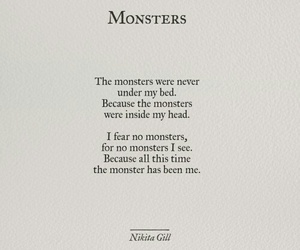 monster, poem, and quote image
