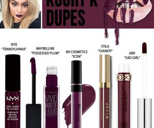 kylie jenner, dupe, and makeup image
