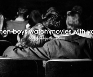 love, boy, and movies image
