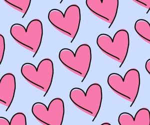 background, colors, and hearts image