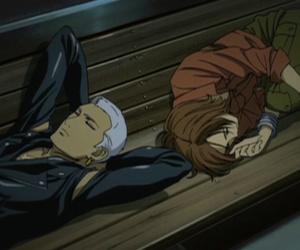 sleeping, toboe, and wolfs rain image