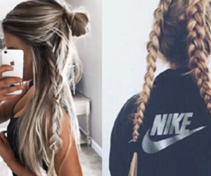 beautiful, blond hair, and nike image