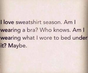 funny, sweatshirt, and winter image