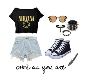 converse, fashion, and nirvana image