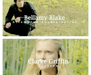 couple, the 100, and clarke griffin image