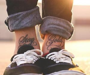 gold, tattoo, and swag image