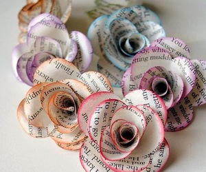 flowers, rose, and Paper image