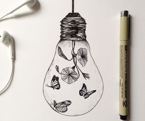 drawing, art, and butterfly image
