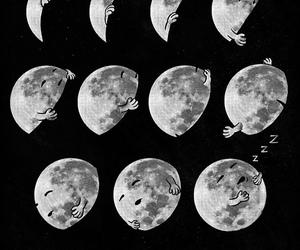 moon and sleep image