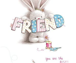 friend, rabbit, and cute image