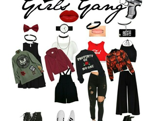 gang, girls, and outfits image