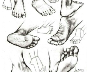 feet and how to draw image