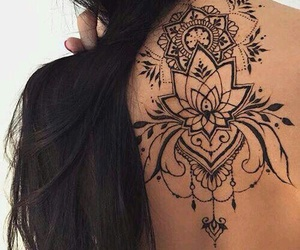 tattoo, black, and henna image
