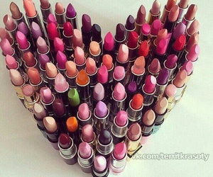 heart, make up, and love image