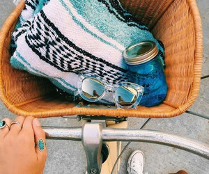 summer, bike, and beach image