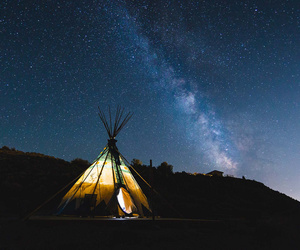 galaxy, hippie, and milky way image