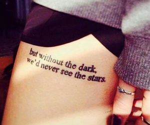tattoo, quotes, and dark image