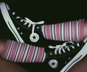 all star, pink, and vintage image