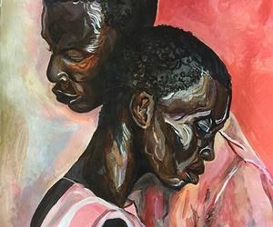arte, pintura, and rosa image