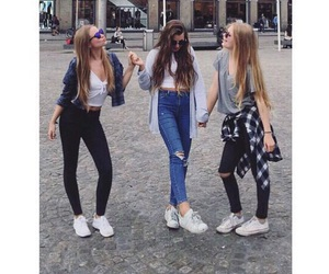bff, laugh, and shopping image