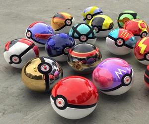 pokemon, pokeball, and pokeballs image