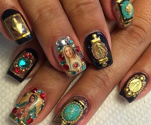 gold, nails, and jewels image