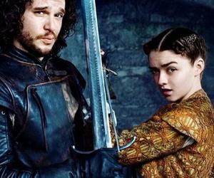 game of thrones, jon snow, and arya stark image