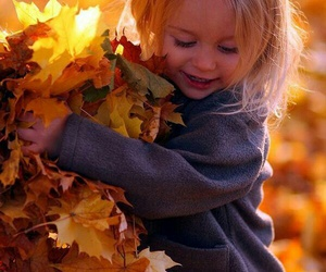 autumn, kids, and child image