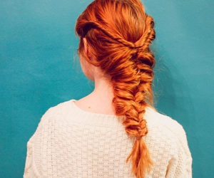 braid, red hair, and ginger image