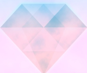 pink, diamond, and blue image