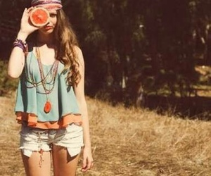 girl, hippie, and style image