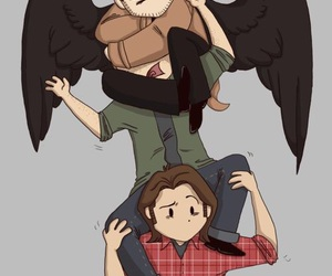 supernatural, castiel, and Sam image