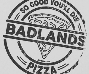 badlands, halsey, and pizza image