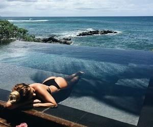 bikini, travel, and flower image