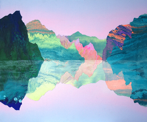 mountains, art, and colors image