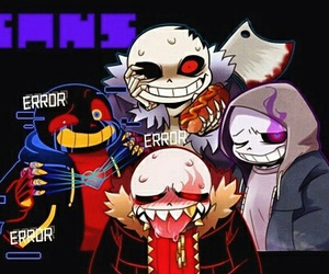 undertale, underfell, and horrortale image