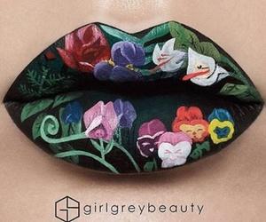make up, lips, and makeup image