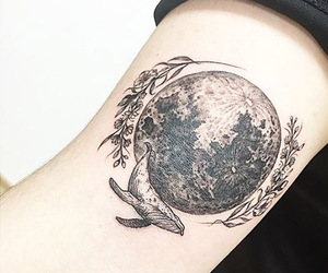 moon and tatto image