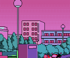 aesthetic, blue, and pixel image