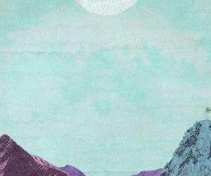 wallpaper, hipster, and moon image
