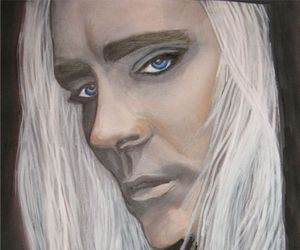 watercolor painting, lee pace, and thranduil fan art image