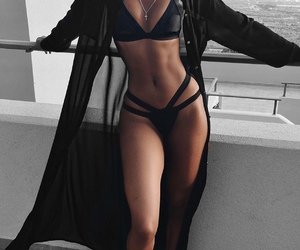 body, black, and bikini image