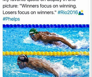 quote and swimming image
