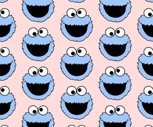 background, colors, and cookie monster image