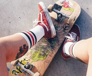 skateboarding and vans image